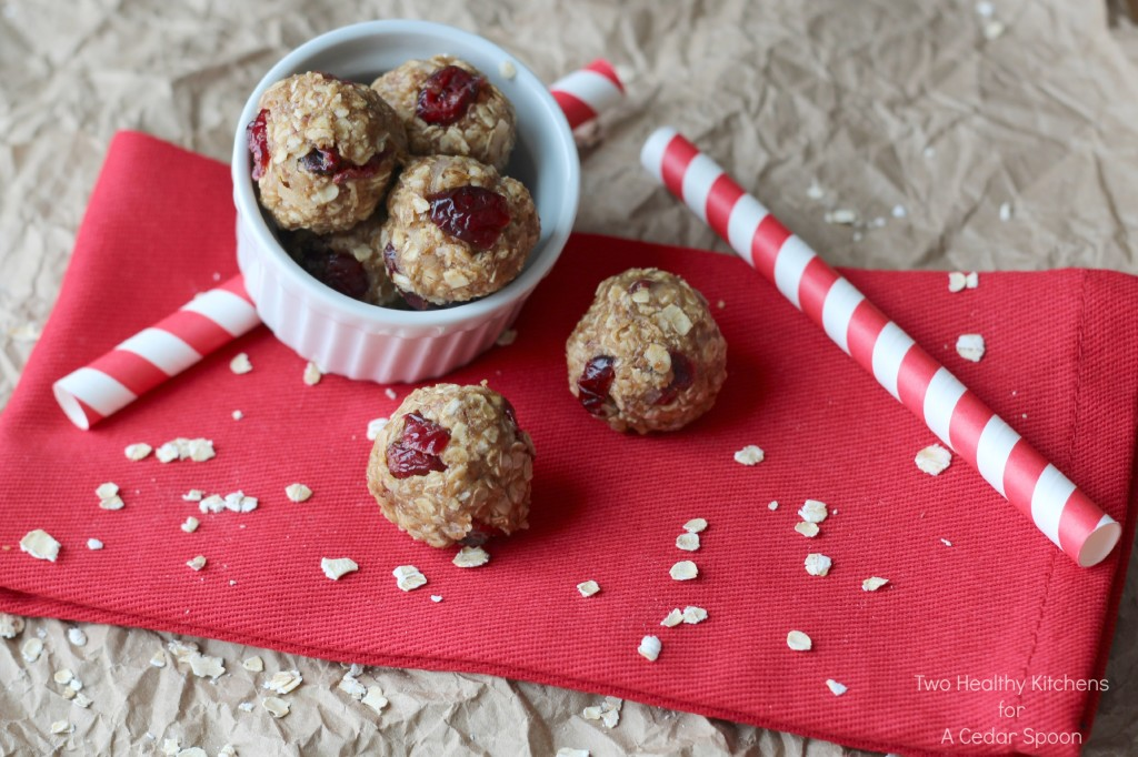 Peanut Butter and Jelly No-Bake Snack Bites