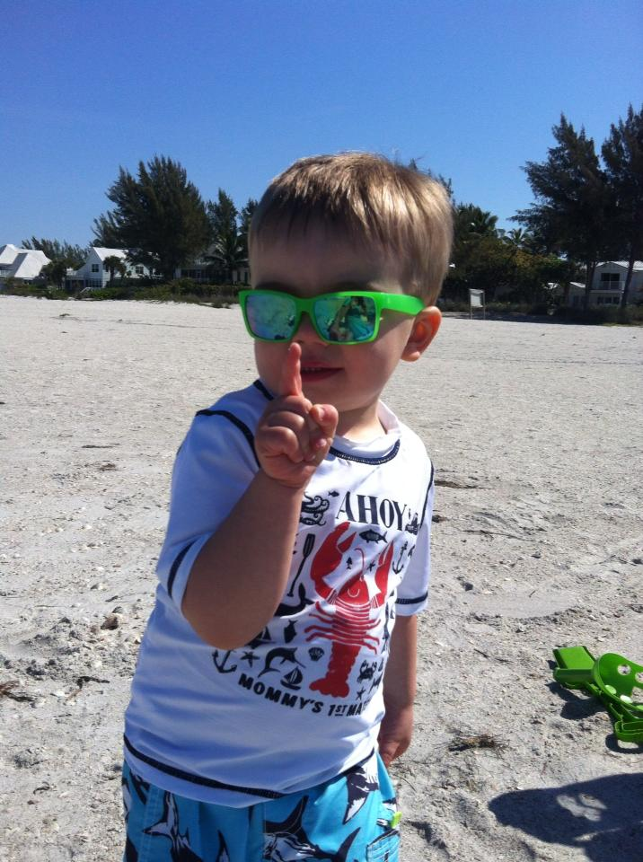 Will at the beach