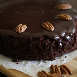 Gluten-Free Chocolate Cake with Coconut-Chocolate Ganache (almost Paleo) {Guest Post by The Roasted Root}