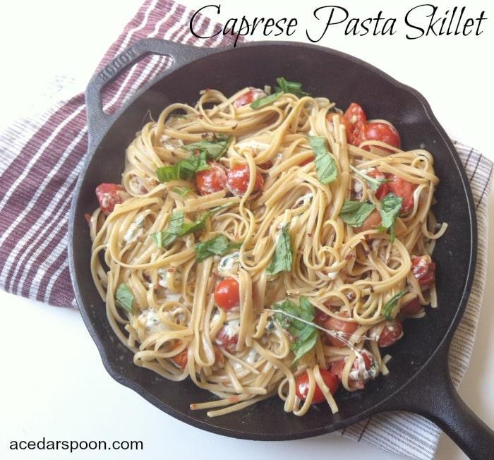 Caprese Pasta Skillet