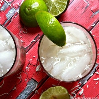 Spiked Raspberry Lime Coconut Water