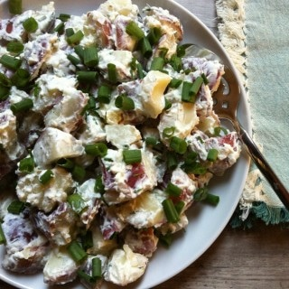 Potato Salad with Dill Chive Yogurt Dressing