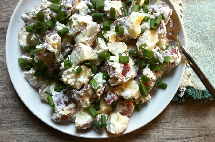 Potato Salad with Dill Chive Yogurt Dressing