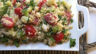 Tomato Cucumber and Feta Quinoa Salad