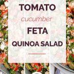 Tomato Cucumber Feta Quinoa Salad Collage