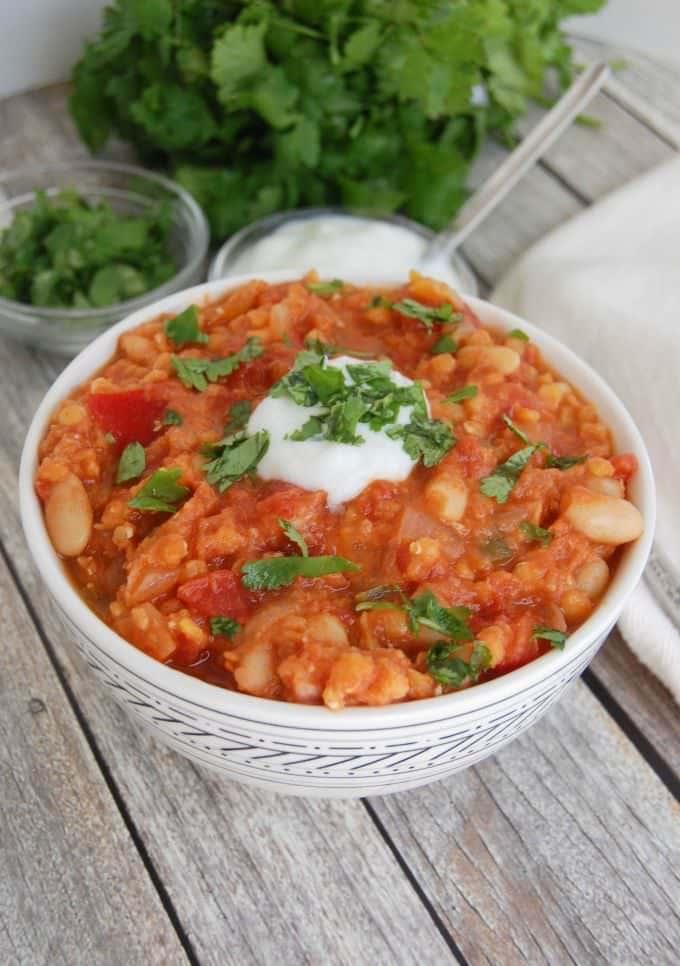 Vegetarian Lentil Chili - dinner