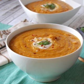 Moroccan Carrot and Red Lentil Soup