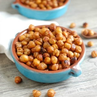 Crunchy Roasted Chickpeas - kid friendly