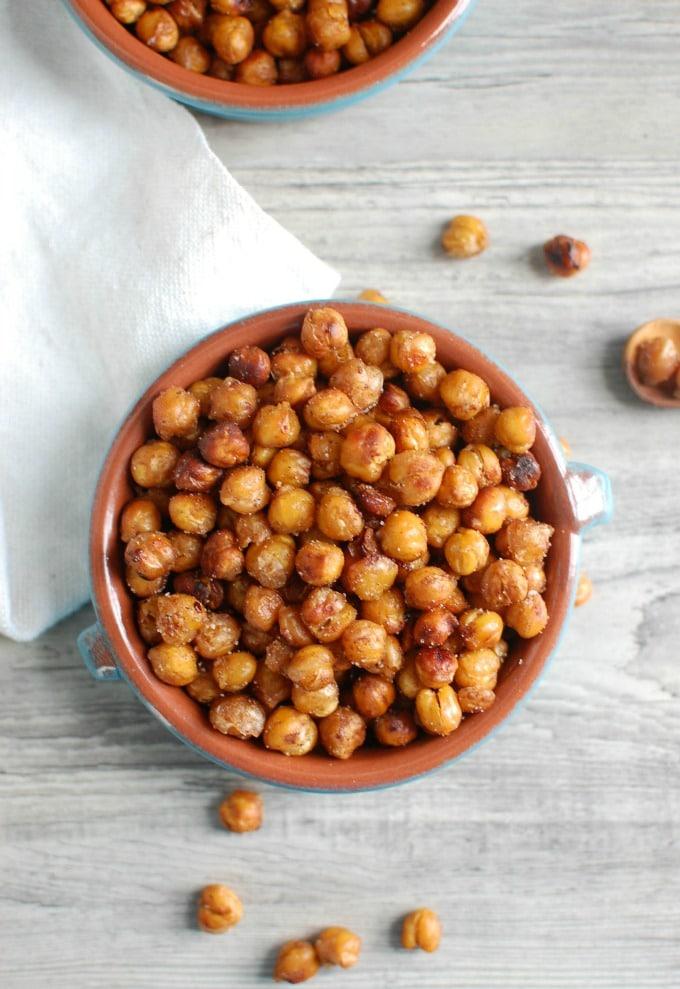 Crunchy Roasted Chickpeas - kids love it