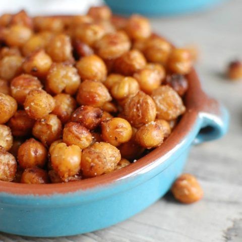 Crunchy Roasted Chickpeas - healthy