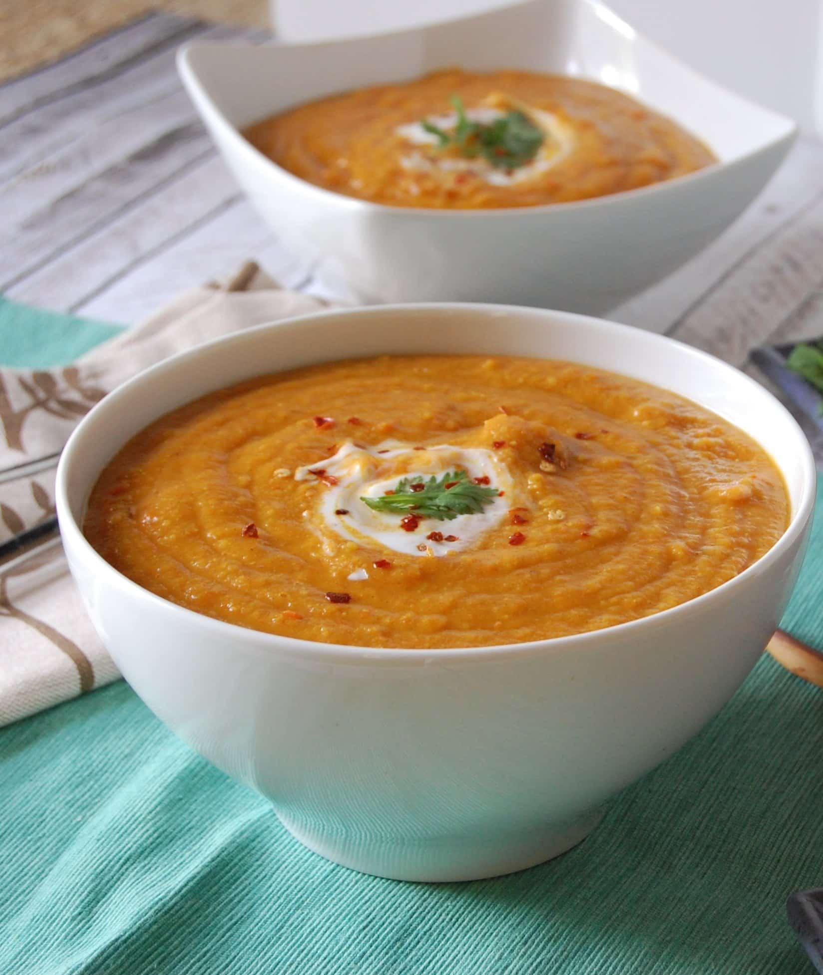 Moroccan Carrot Lentil Soup