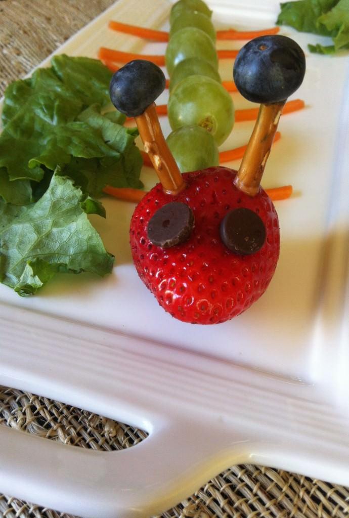 Fruit Caterpillar Kid Friendly Snack A Cedar Spoon