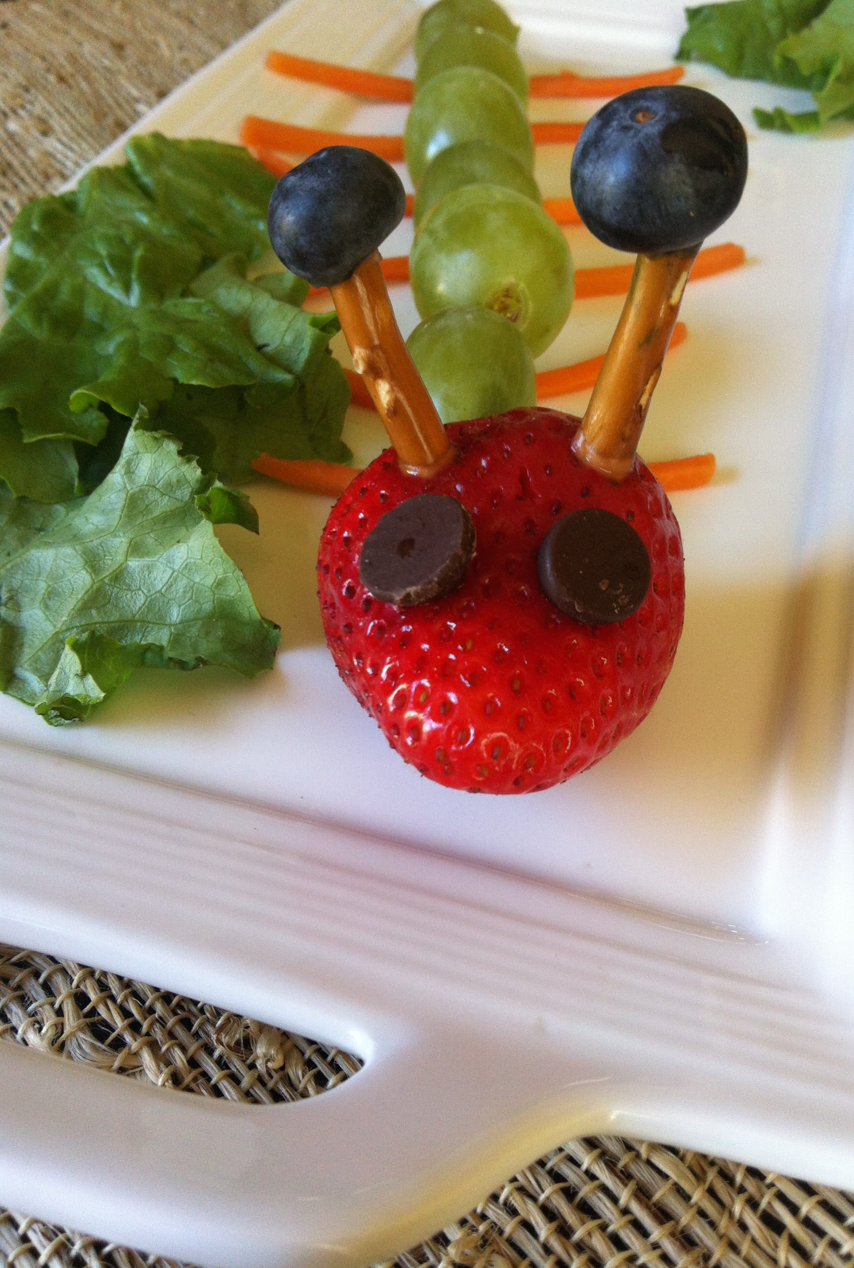 Fruit Caterpillar Kid Friendly Snack A Cedar Spoon