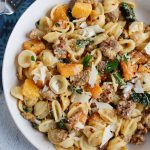 Butternut Squash Pasta with sage