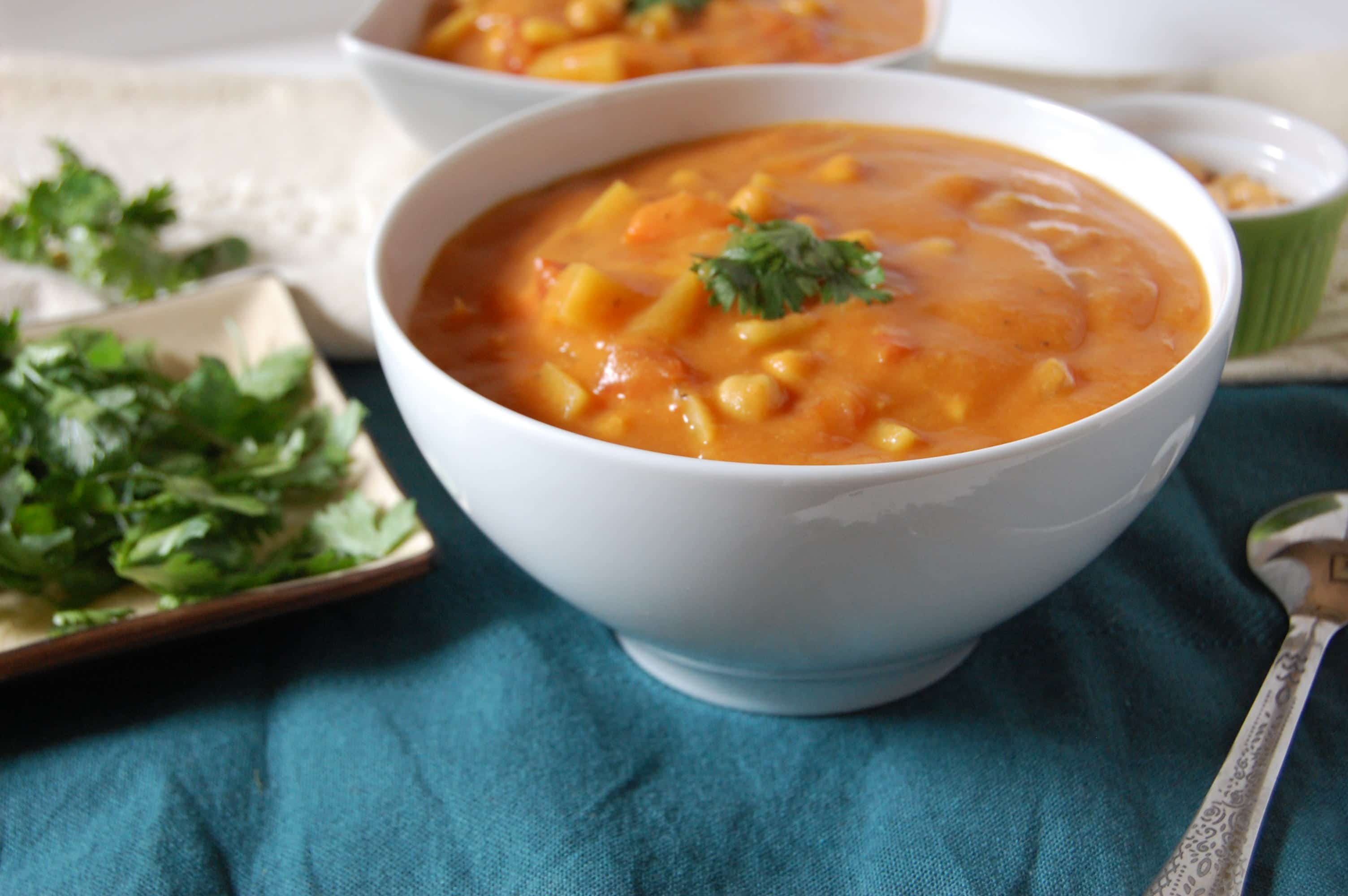 Indian Spiced Vegetable Chickpea Stew