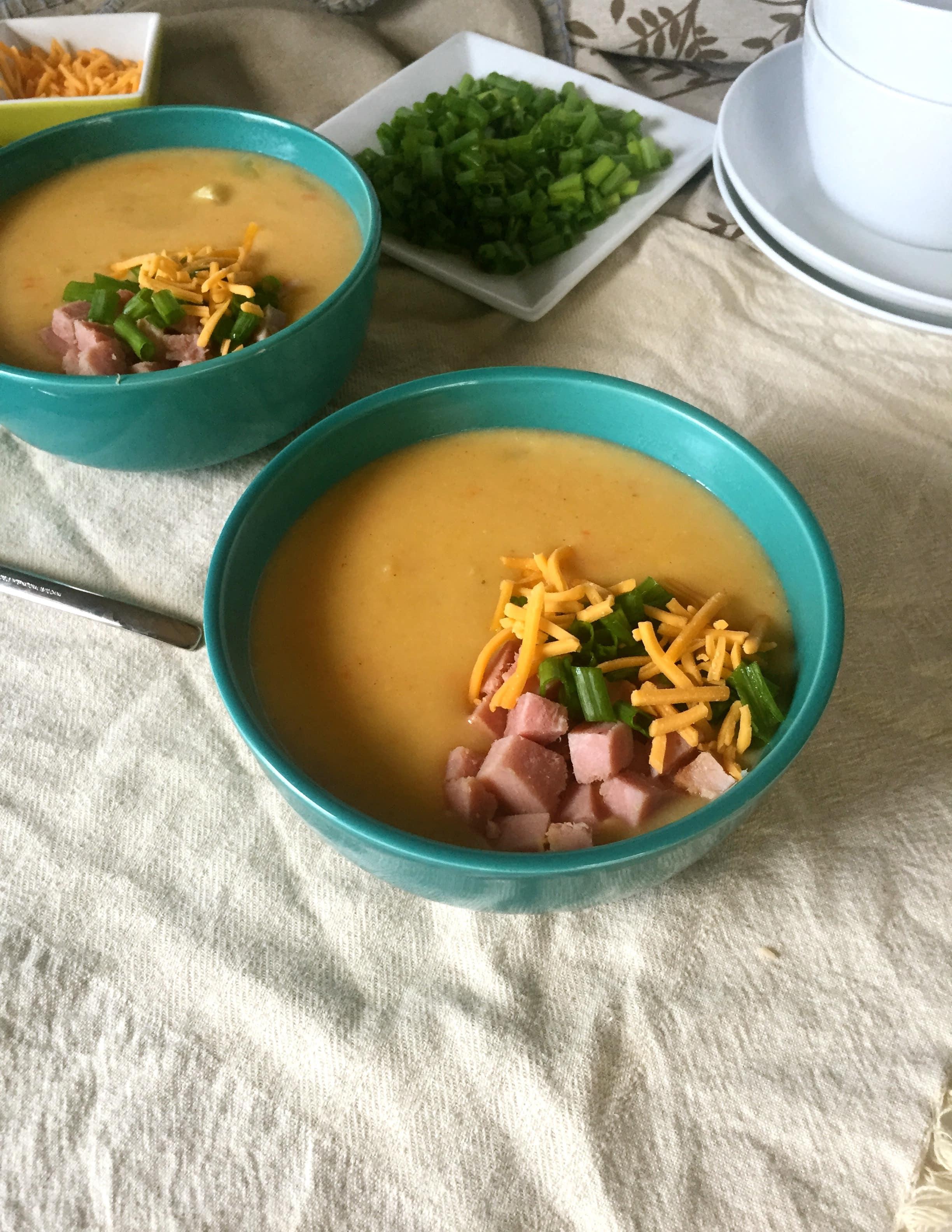 Cheesy Potato Ham Soup
