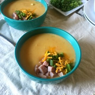Cheesy Potato Ham Soup