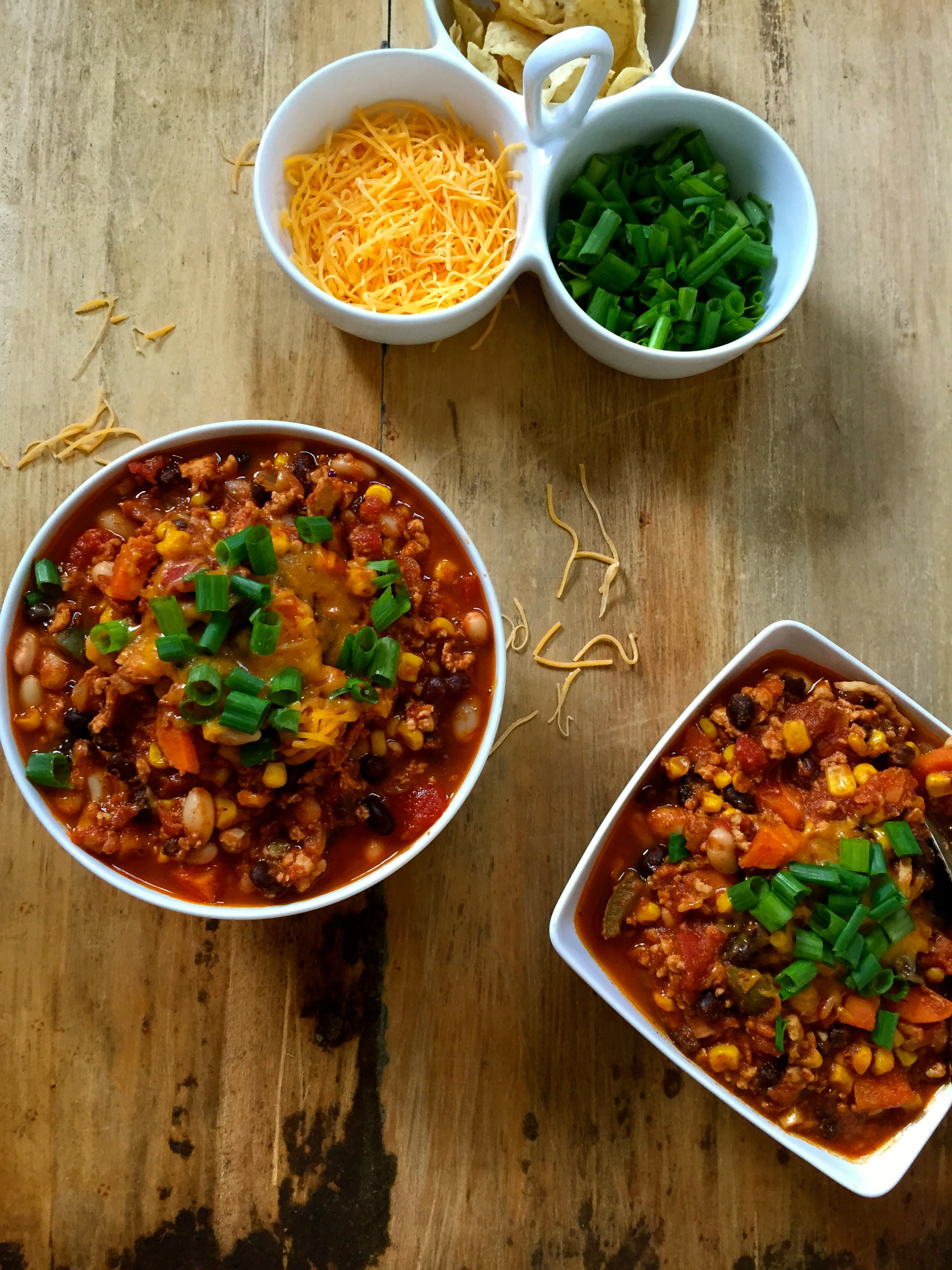 White and Black Bean Turkey Chili - A Cedar Spoon