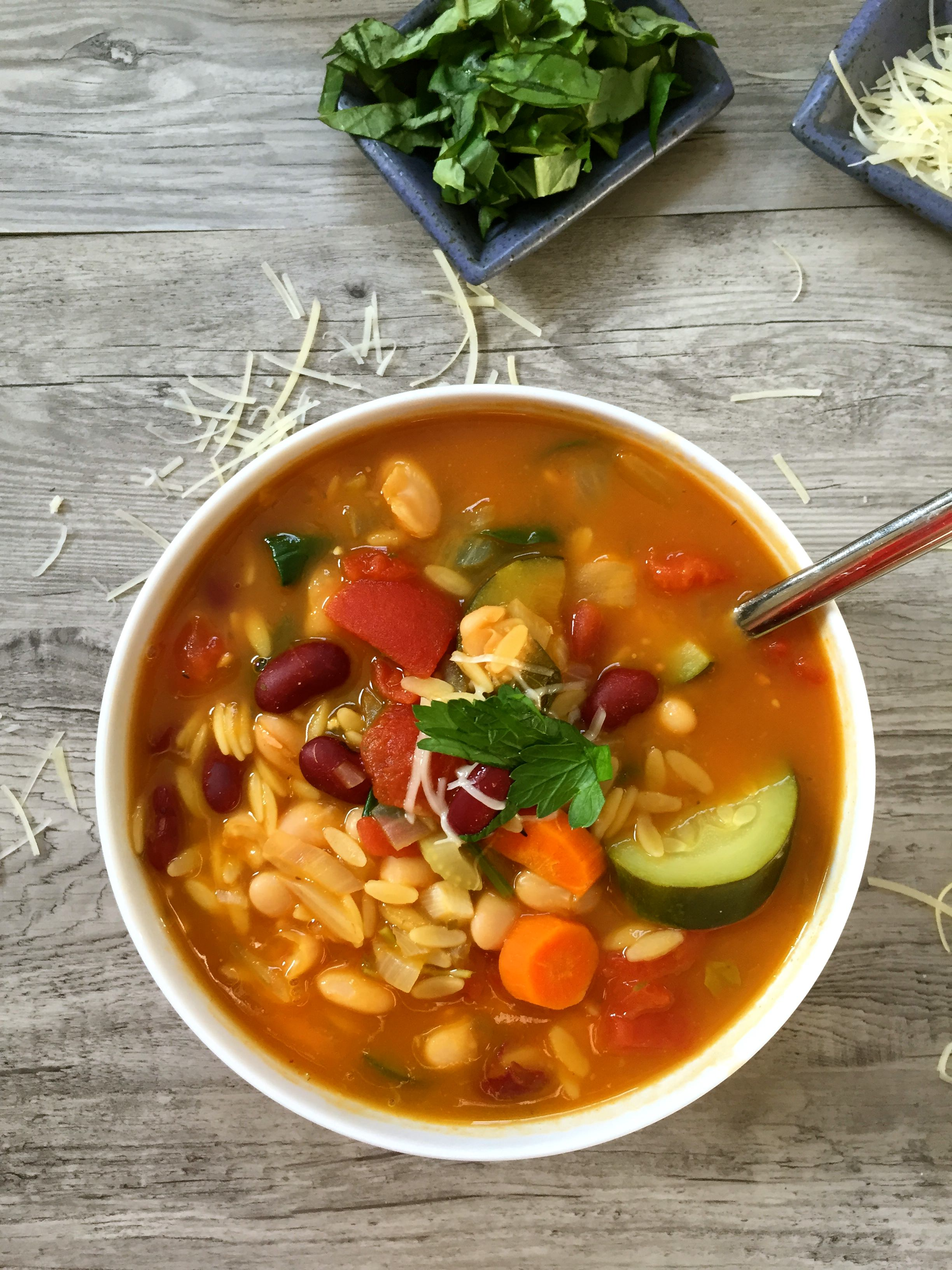 30 Minute Orzo Minestrone Soup
