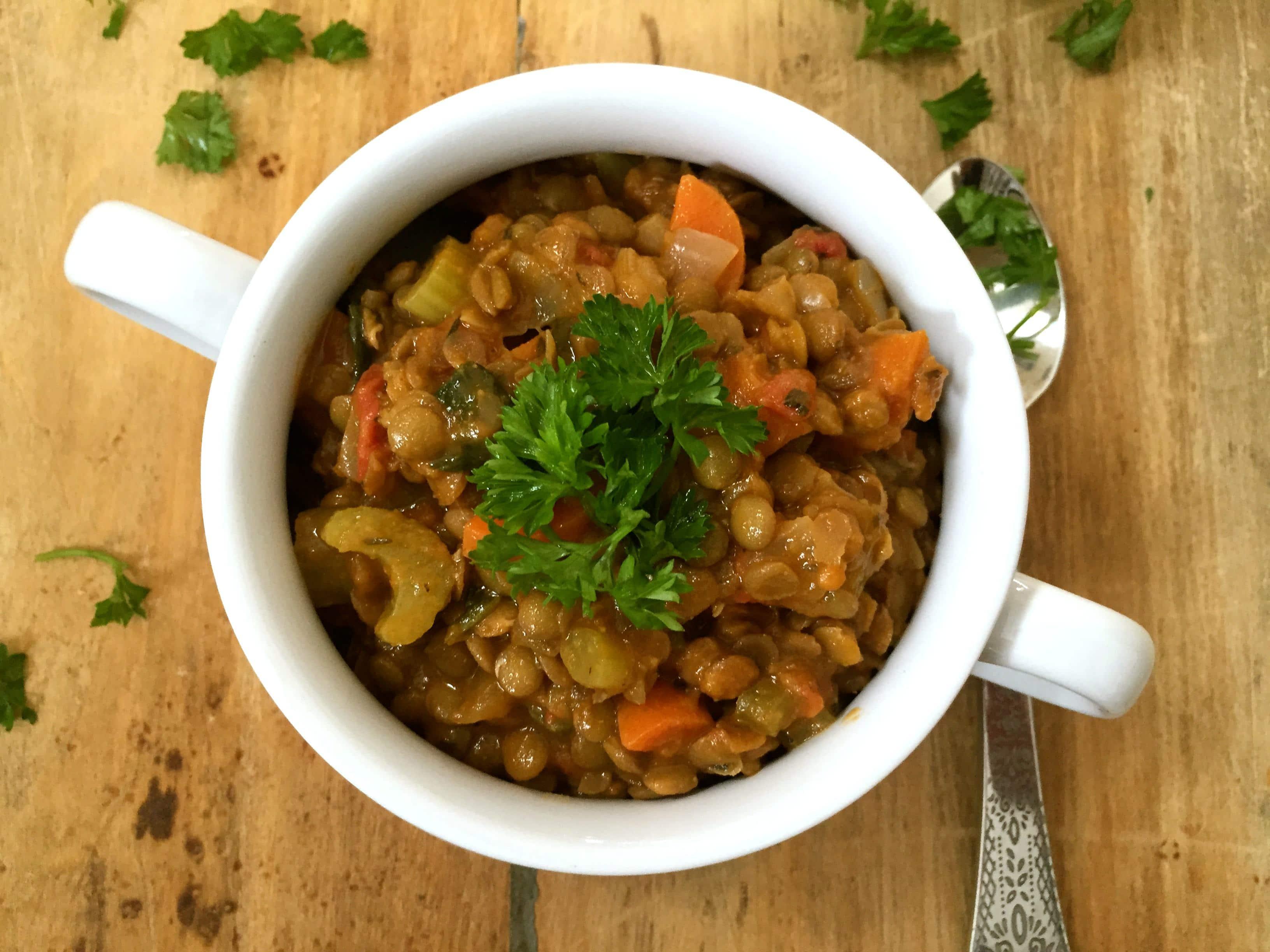 Lentil Spinach Soup - yum