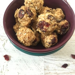 No Bake Coconut Cranberry Energy Bites
