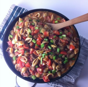 One-Skillet-Cheeseburger-Pasta