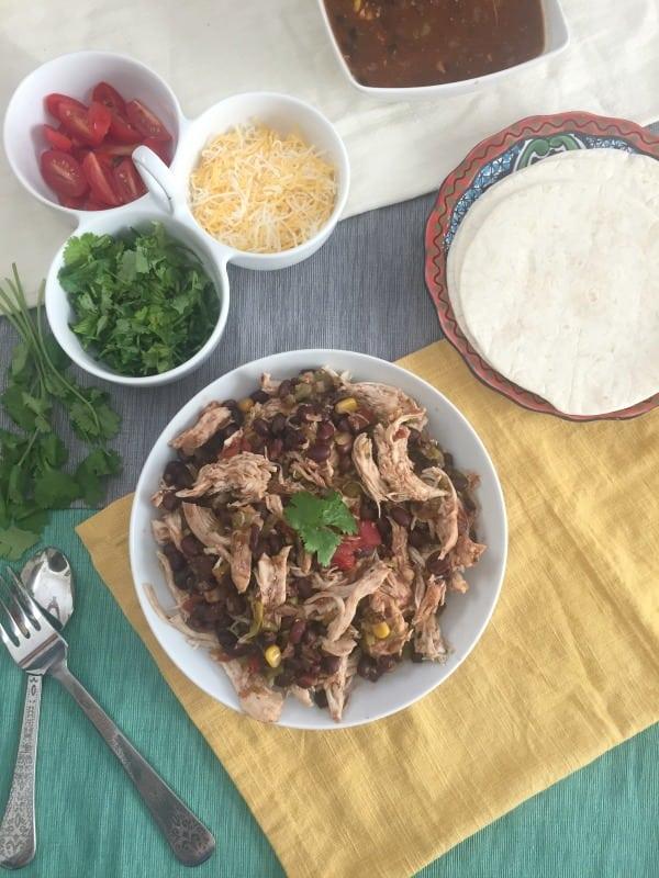 4 Ingredient Slow Cooker Shredded Chicken 1