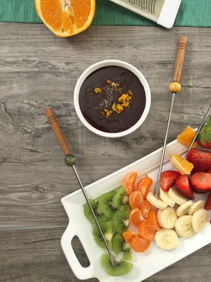 Dark Chocolate Orange Sea Salt Fondue