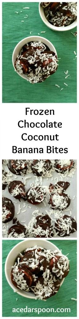Frozen Chocolate Coconut Banana Bites