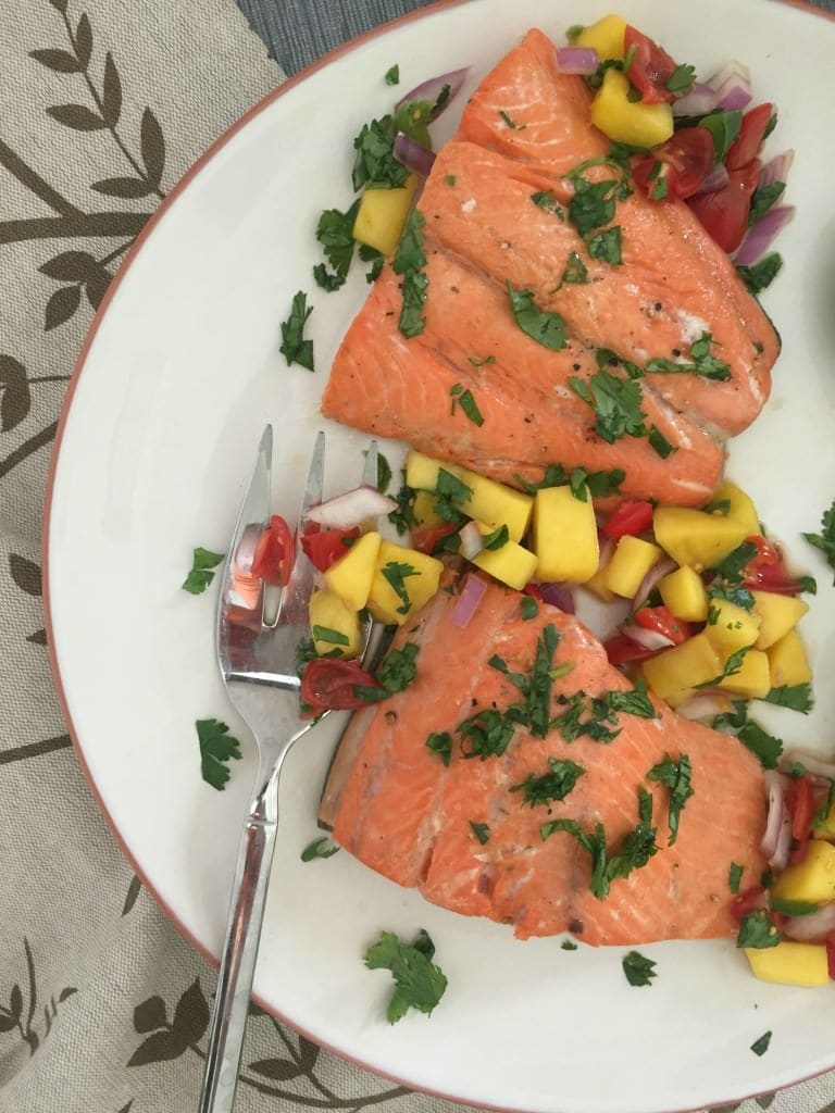 Orange Lime Salmon with Mango Salsa