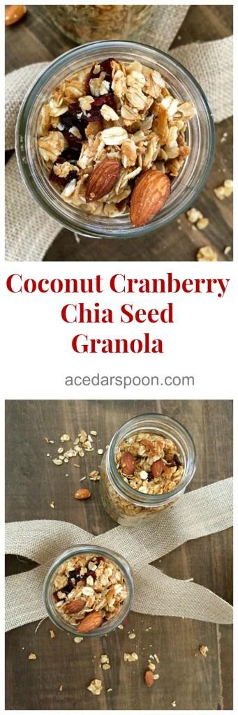 Coconut Cranberry Chia Seed Granola