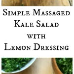Kale Salad with Lemon Dressing Collage