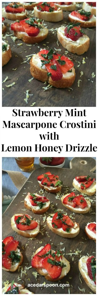 Strawberry Mint Crostini