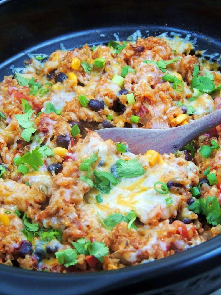slow cooker chicken enchilada quinoa 2