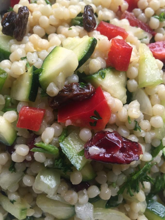 Israeli Couscous Salad with Lemon Dressing - A Cedar Spoon
