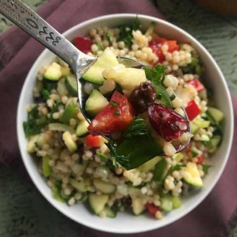 Israeli Couscous Salad with Lemon Dressing