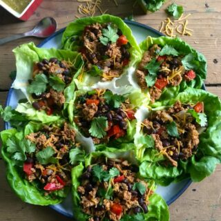 Mexican Turkey Lettuce Wraps