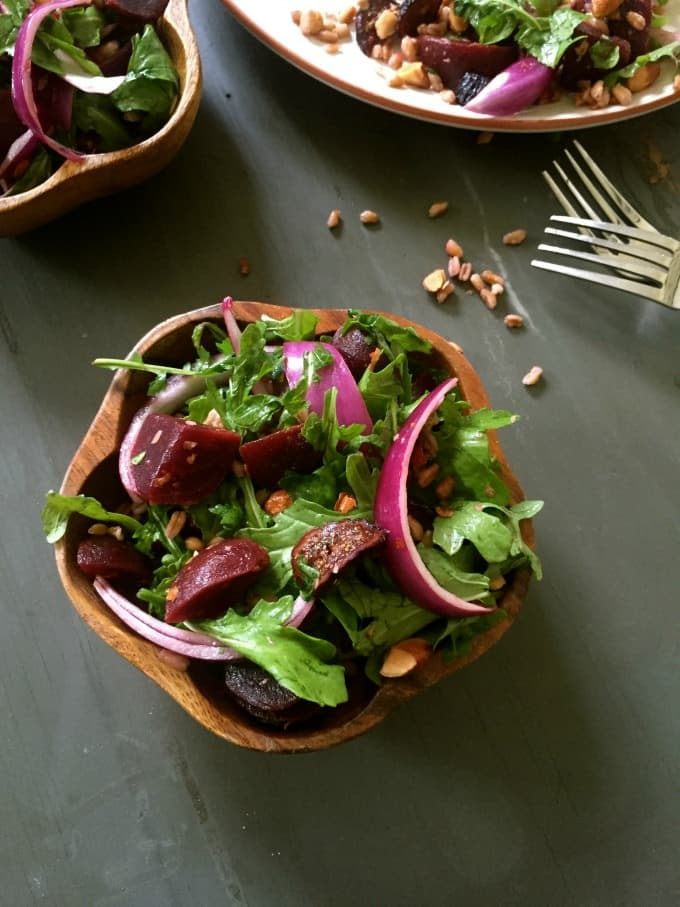 Fa r ro Roasted Beet Arugula Salad is perfect for a brunch, a baby or ...