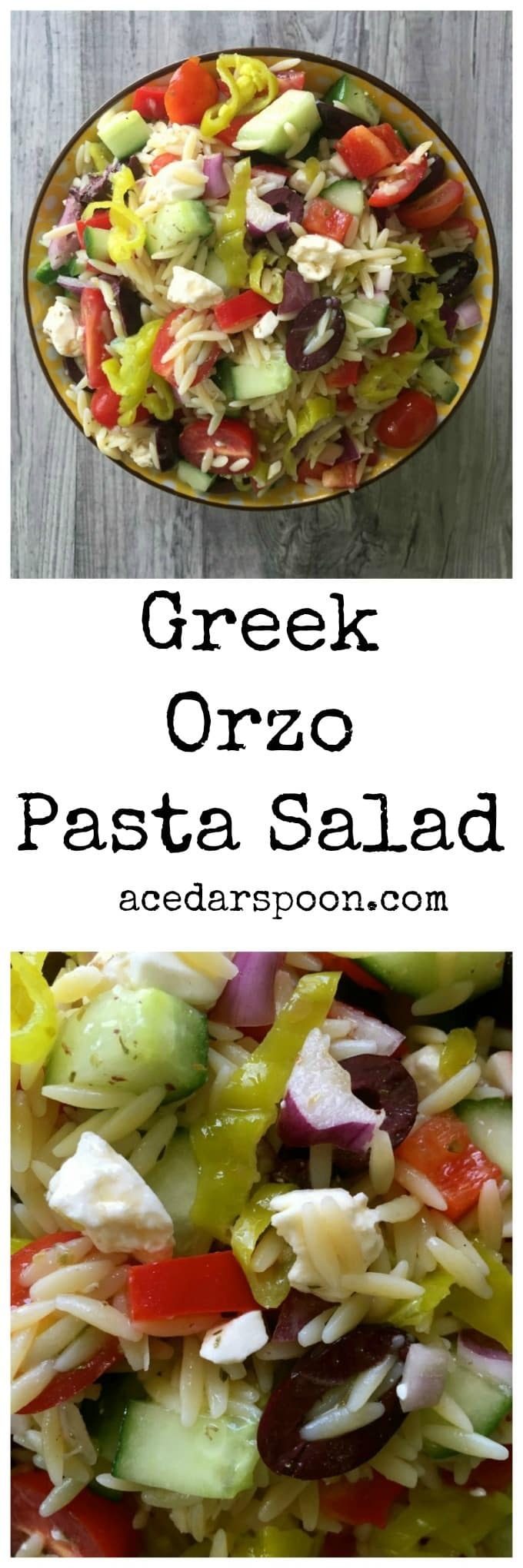 Greek Orzo Pasta Salad A Cedar Spoon