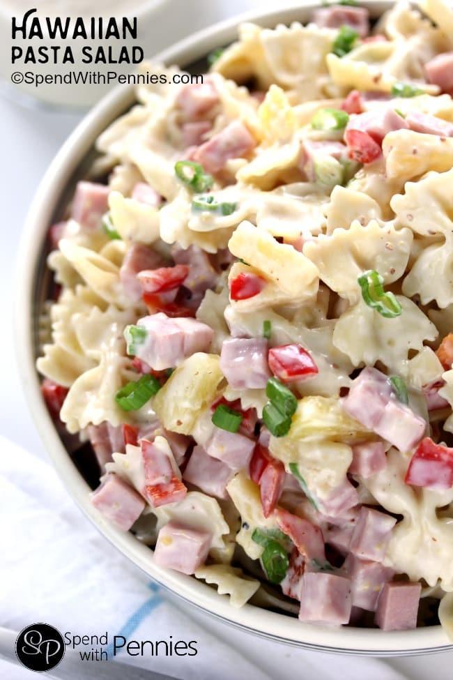 Hawaiian-Pasta-Salad-with-Pineapple-Dressing