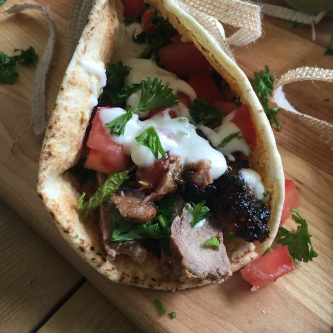 Mediterranean Steak Pita Wraps With Mint Yogurt Sauce A Cedar Spoon
