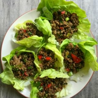 Thai Turkey Quinoa Lettuce Wraps