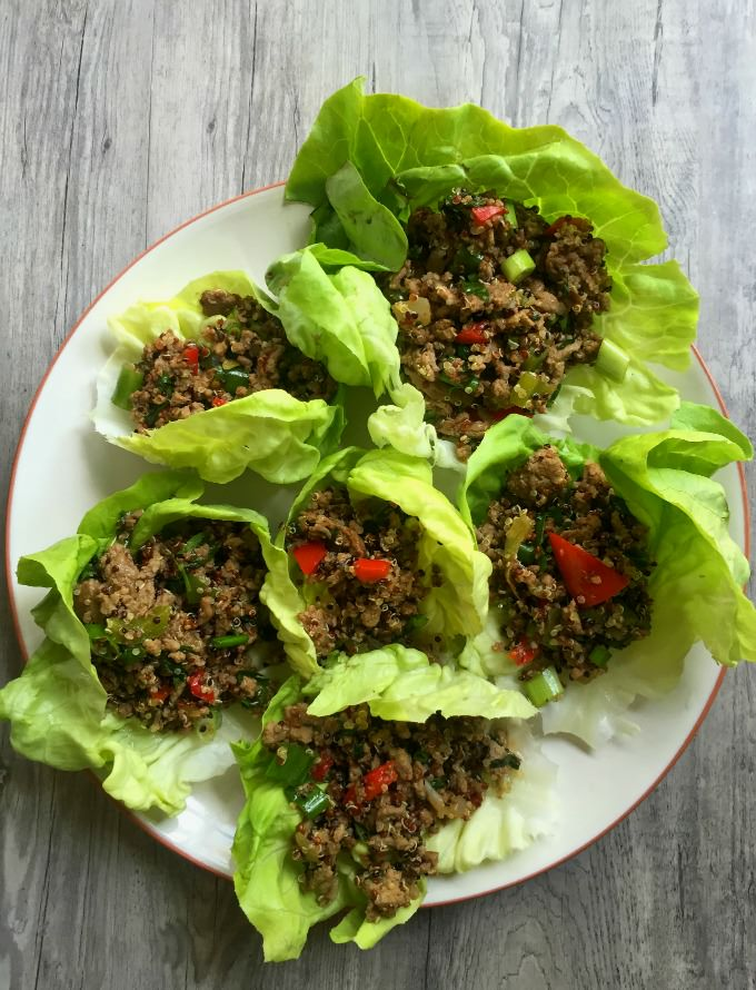 Thai Turkey Quinoa Lettuce Wraps  - yum