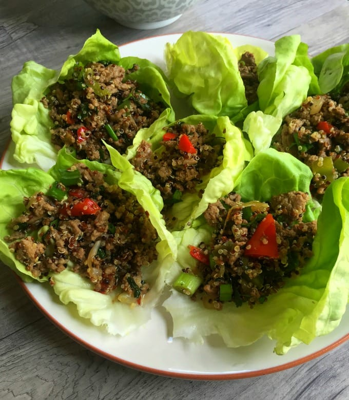 Thai Turkey Quinoa Lettuce Wraps - healthy dinner
