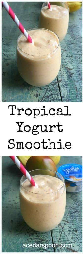 Tropical Yogurt Smoothie