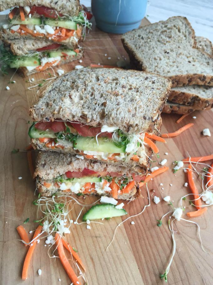 This bread is packed with protein, fiber, whole grains and no ...