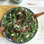 Roasted Beet Salad with Goat Cheese and Pecans