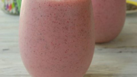 Strawberry Banana Chia Seed Smoothie
