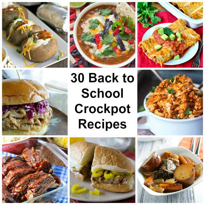 30 Back to School Crockpot Recipes
