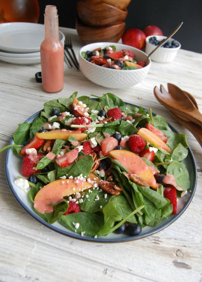 Mixed Berry Salad with Strawberry Vinaigrette
